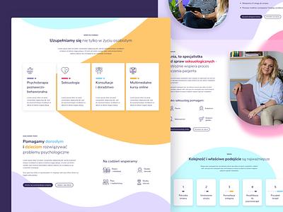 Wamka Website UX & UI Redesign tiles help psychology psychologist shapes page home photos services stages steps desktop website modern flat design web ui ux