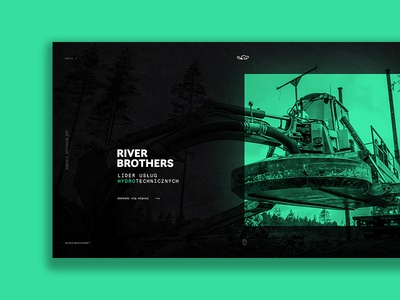 Full screen home page beaver machine heavy grid modern website design web