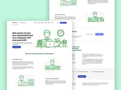 Medical Call Center Website health green illustration design ux modern minimal web design web website ui flat