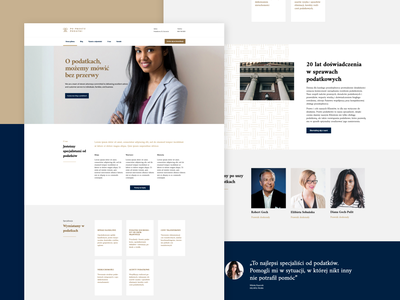 Tax consultants website gold tiles home page law tax minimal business modern web ux web design website flat