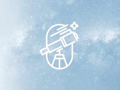 Shoot for the stars telescope logo space logo space star solar telescope branding mark icon logo solar system