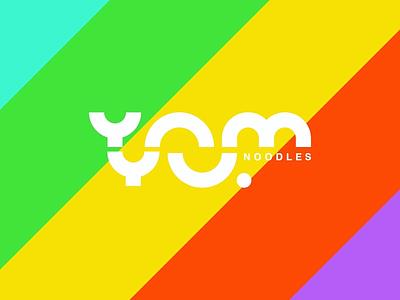 YOMYU Branding branding noodle restaurant logo restaurant branding food branding food logo logo wordmark