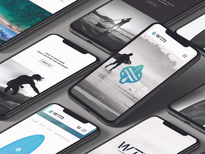 WTR Site Design – 02 uiux mobile ui ecommerce website design web design website web identity brand identity branding