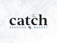 The Catch Seafood Market Logo Concept