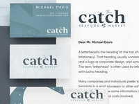 The Catch Branding Materials