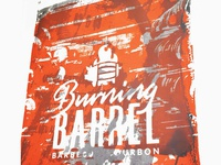 Burning Barrel Screen print Poster 1