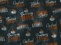 Burning Barrel Typographic Pattern