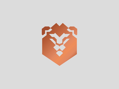 Unselected Lion Mark 1 lion mark wip unselected logo coworking animal lion logo lion mark logo branding