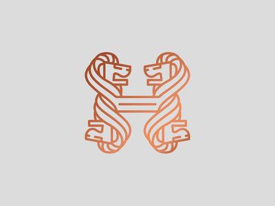 Unselected Lion Mark 2 lion mark wip unselected logo coworking animal lion logo lion mark logo branding
