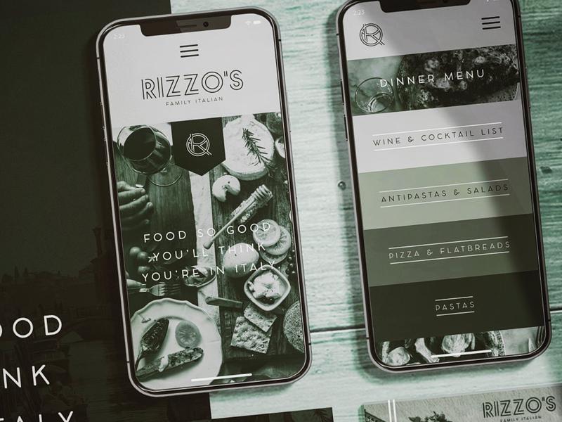 Rizzo Family Italian- Branding 1 restaurant branding restaurant logo design print web mobile brand materials logo brand identity branding