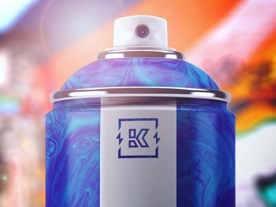Kinetik Packaging - 02 spray paint packaging brand identity branding spray paint k logo logo packaging design packaging