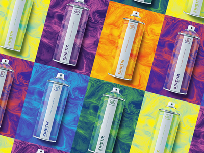 Kinetik Packaging - All spray paint packaging spray paint packaging system brand packaging brand identity branding logo packaging design packaging