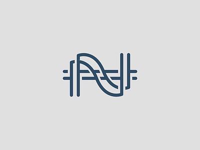 NH Monogram Mark branding monogram logo modern logo logo design logo h mark n mark nh monogram mark