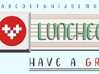Luncheon Font Banner