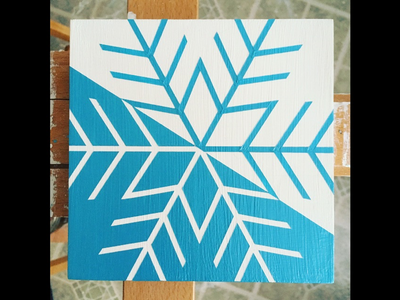 a beautiful and unique snowflake snowflake acrylic painting