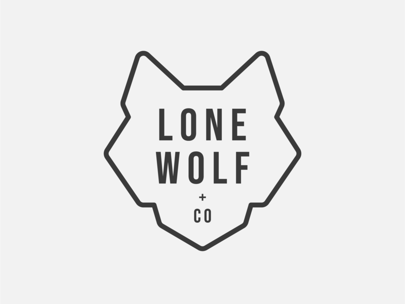 Lone Wolf & Co. wedding wolf man wolfman wolf logo lone lone wolf wolf design vector camping bmw az arizona animal africa illustration beer typography branding logo