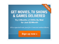Blockbuster: DVDs By Mail Banner Ad
