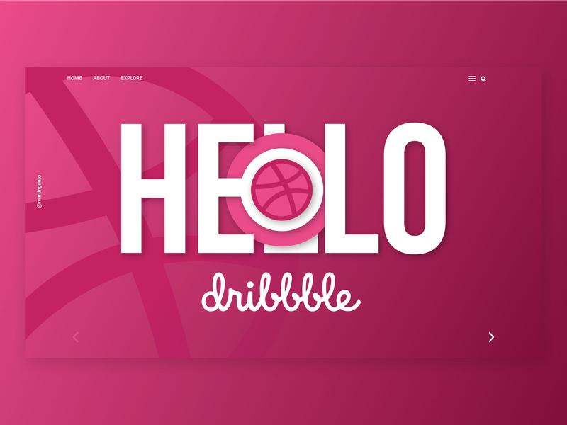 Hello Dribbble gradient hello dribble uiuxdesign semiflat vector design web ui