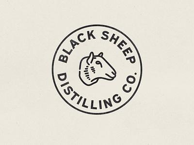 Black Sheep Alt Badge sheep brewery logo distillery brewery hand drawn vintage vector texture minimal logo illustration icon design branding badge