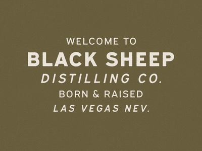 Welcome to Black Sheep brewery distillery distressed typography typeface type lockup hand drawn logo branding badge vintage vector texture minimal design