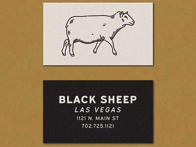 Black Sheep Business Card brewery distillery brewery branding sheep business card typedesign typogaphy type hand drawn logo branding illustration badge vintage vector texture minimal design