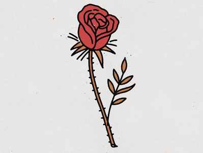 Back to basics distressed rose logo tattoo art tattoo design tattoo rose logo hand drawn illustration design vintage vector texture minimal