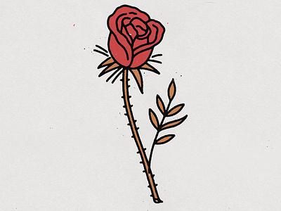 Back to basics distressed rose logo tattoo art tattoo design tattoo rose logo hand drawn illustration design vintage vector texture minimal