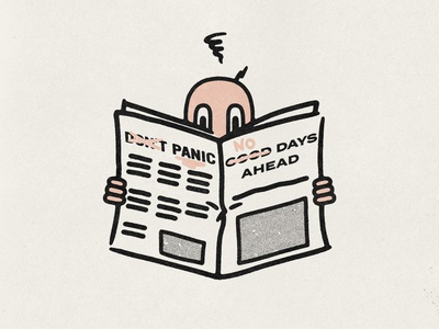 doomsday? grunge distressed type hand drawn minimal illustration texture design vintage vector