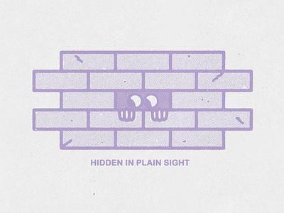in plain sight hidden message hidden grunge typography distressed lockup hand drawn minimal illustration texture design vintage vector
