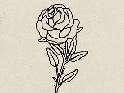 Rose tattoo tattoo design rose flower grunge rose distressed hand drawn minimal illustration texture design vintage vector