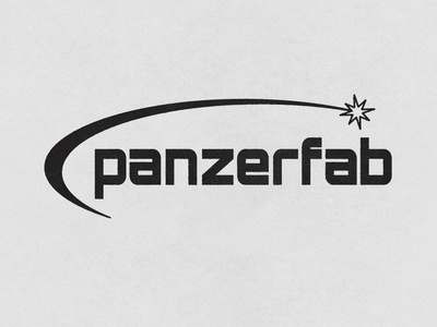 Panzerfab lockup branding typography logo badge minimal texture design vintage vector