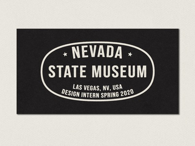 Design Intern Spring 2020 museum nevada lockup typograhpy type vintage vector texture minimal logo icon illustration design branding badge