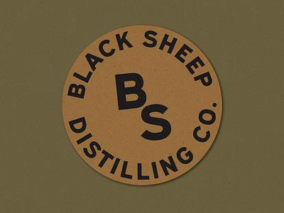 Black Sheep Badge + Monogram tag design monogram logo monogram type design lockup typography type vintage vector texture minimal logo illustration icon design branding badge