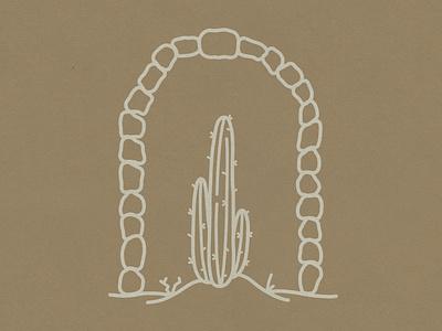 Dulcius Ex Asperis southwest western cactus hand drawn drawing vintage vector texture minimal logo illustration icon design branding badge