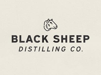 Black Sheep Alt Logo sheep distillery brewery hand drawn vintage vector texture minimal logo illustration icon design branding badge