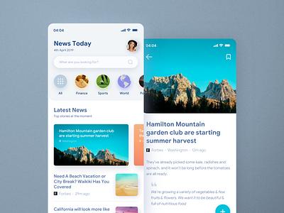 News App uiux ui mobile light layout iphone ios interface newsapp news design app application