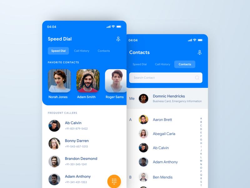 Phone App Design uiux ui mobile layout interface clay ios calls phone contacts app design app