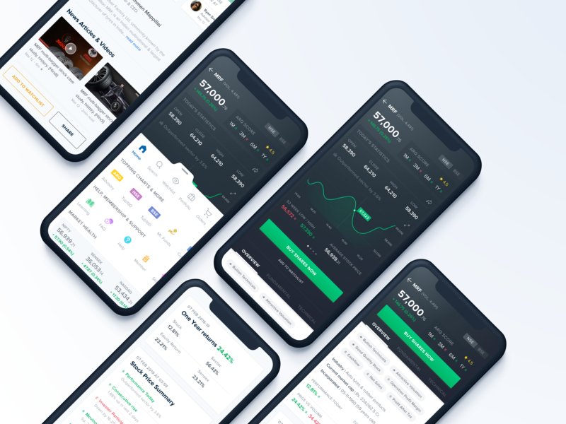 Online Trading Application fintech finance app stock mobile ui iphone x interface uidesign uiux icons ui appdesign app