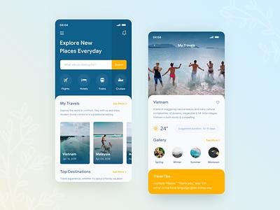 Travel App Design application uiux uidesign ui sketch travel app travel mobile iphone interface design app design app