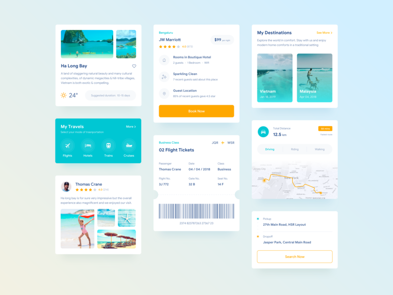 Travel App Cards ui  ux ui travel app travel sketch mobile iphone interface design app design app