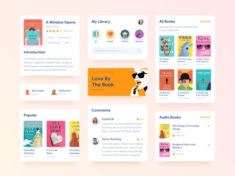 Reading App Cards book ux ui  ux ui library reading books sketch mobile iphone interface design app design app