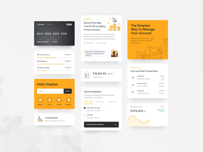 Finance Application Cards inspiration pattern bank interaction ux ui uiux motiongraphics mobile animation motion principle aftereffects finance design clean cards appdesign app