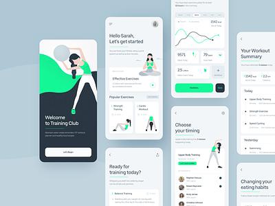 Fitness Application ux uiux uidesign ui training texture sketch meditation iphone ios interface illustration fitness app fitness design cardio appdesign app