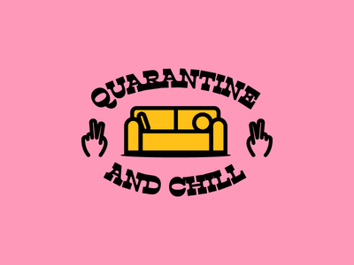 Q&C stay home chill quarantine design illustration vector