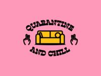 Q&C stay home chill quarantine design illustration vector