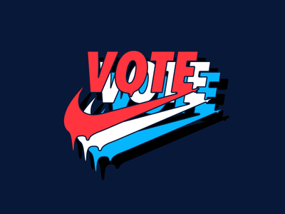 Vote election nike drip type vote