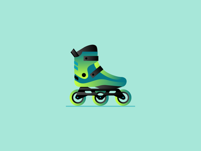 Blades rollerblades design illustration vector