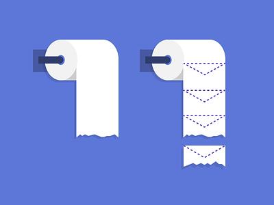 Shitty Sales Emails blog email poo poop bathroom paper toilet illustration vector