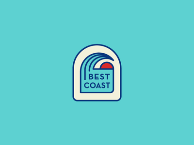 Best Coast Patch wave illustration vector coast sun surf patch