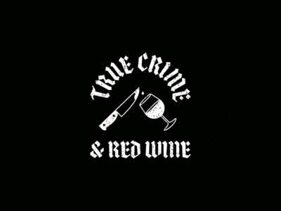True Crime & Red Wine red wine murder knife true crime design tattoo illustration vector
